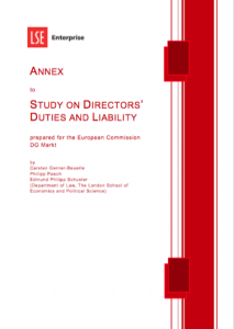 Study on Directors duties and liabilities
