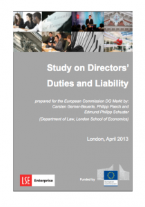 Study on Directores duties and liability 2013