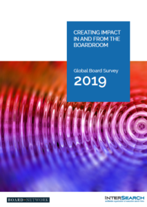 Global Board Survey 2019 – Creating Impact In And From The Boardroom (published in March 2019)
